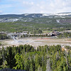 Old Faithful Geyser as seen from Observation Point