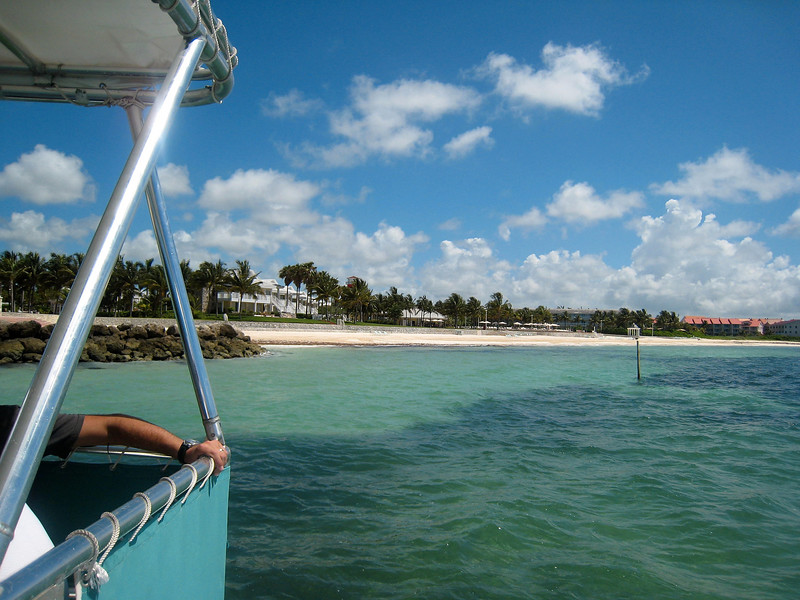 View of Beach from Snorkeling Boat