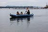 Morva, Sadie, and Amelia in the kayak.
