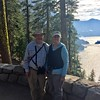 David & MaryAnne over Phantom Ship Island in Crater Lake @ Crater Lake NP