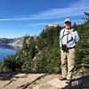 David above Crater Lake @ Crater Lake NP