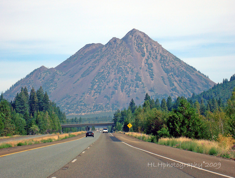 "We lovingly call this 'little brown mountain.' We have called it that since Brian was a little guy. I have no idea what the real name is...I'll have to find out! <br /> <br /> 9.1.09 - Just found out! The official name of this ""mountain"" is Black Butte. Black Butte is a cluster of overlapping dacite lava domes, a parasitic satellite cone of Mount Shasta. It is located directly adjacent to Interstate 5 at milepost 742 between the city of Mount Shasta and Weed, California. More info here: <a href=""http://en.wikipedia.org/wiki/Mount_Shasta"">http://en.wikipedia.org/wiki/Mount_Shasta</a>"
