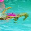 "Mo doing her 'underwater"" act! She's quite the little ""fish."""