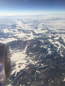 Inflight over Big Horn National Forest [near Buffalo, Wyoming]