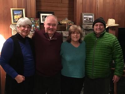MaryAnne, David, Judy & Joe @ Judy's & Joe's House