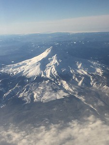 Inflight over Mount Hood, Oregon