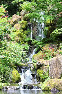 Falls at Portland Japanese Garden