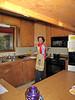 Zora in her kitchen