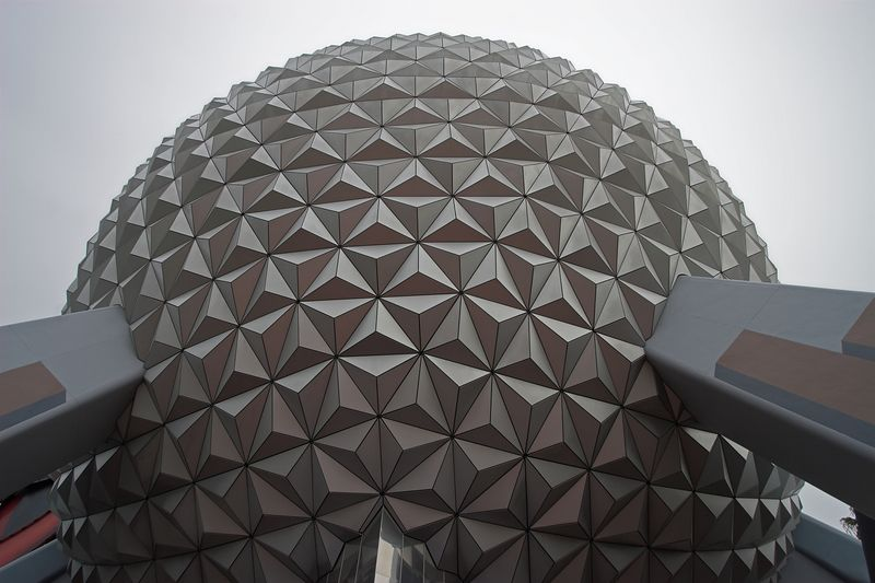 Bottom view of the dome. In addition to being much smaller than I thought, it's not white but silver. (I at least) always thought it was white from pictures of it.