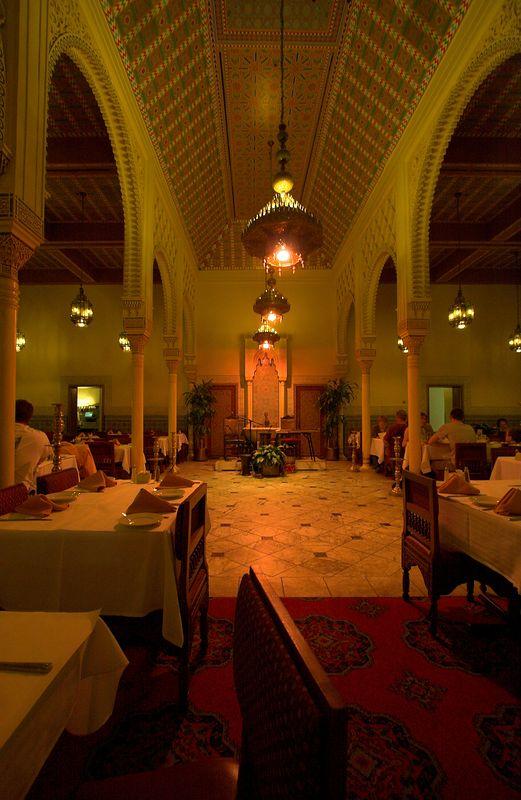 "Interior of the ""Club Marakkesh"" restaraunt at Epcot."