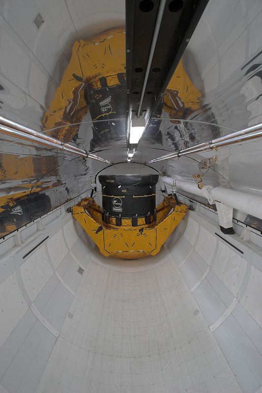 Interior (mockup) of Space Shuttle Cargo bay (life sized)