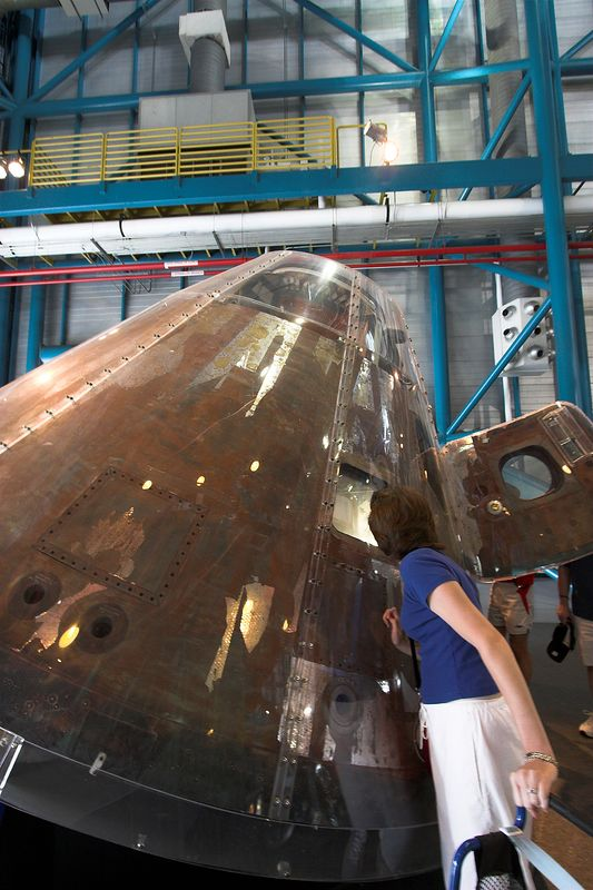 Command module after re-entry.