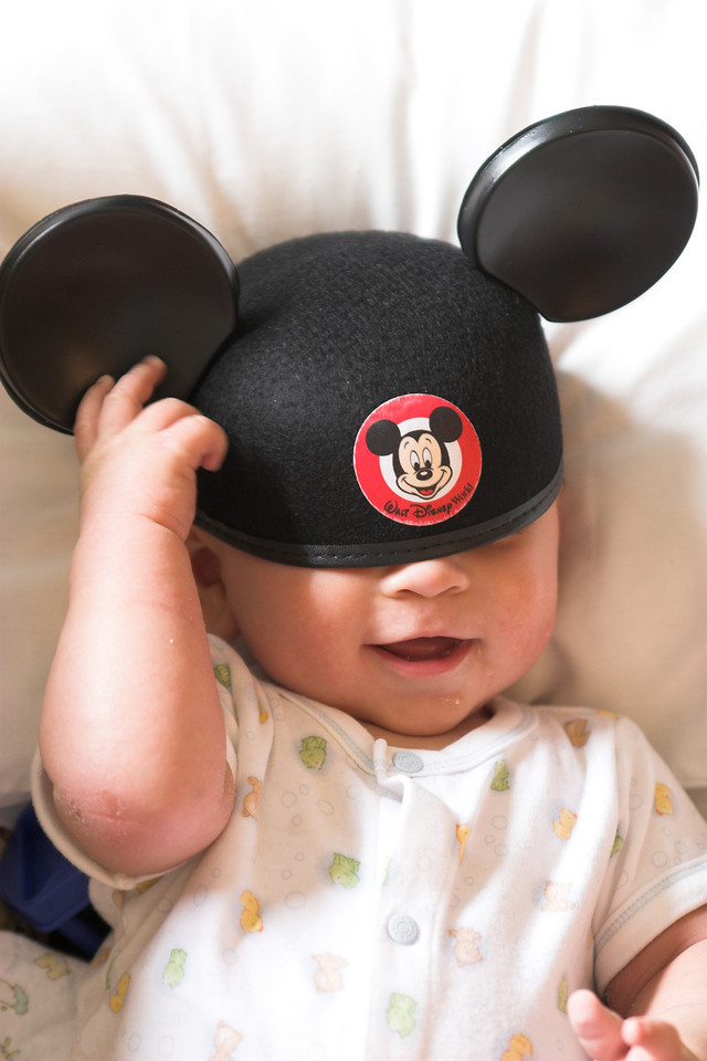 Sheridan's Mickey Mouse Ears slide off...