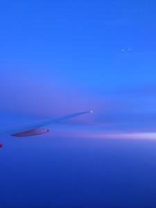 iPhone shot from return flight