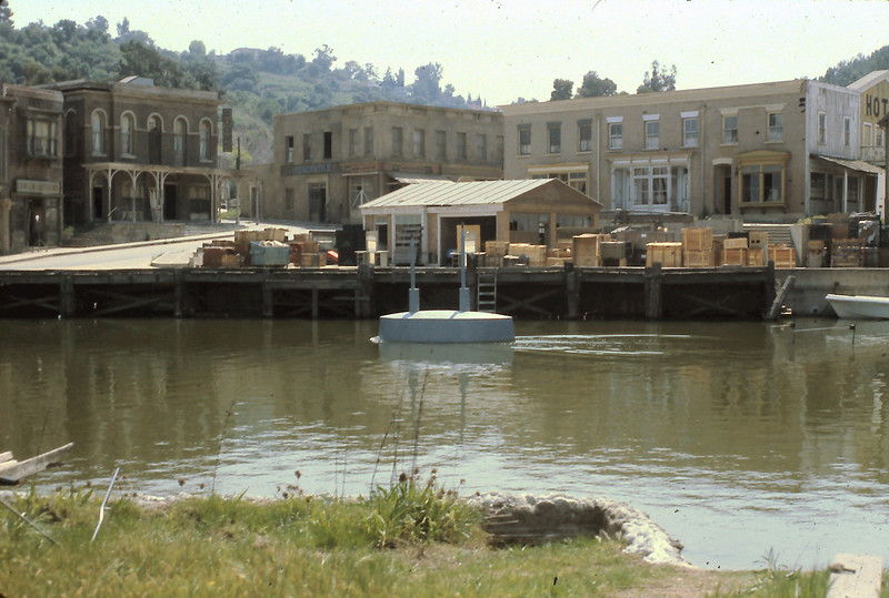 "This is a set from ""The Russians are Coming, The Russians are Coming"".  The Russian Submarine is shown in the ""harbor""!"