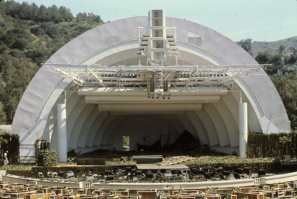 On the Saturday before Easter, we visited the Hollywood Bowl.  They were preparing it for Easter Service on Sunday.