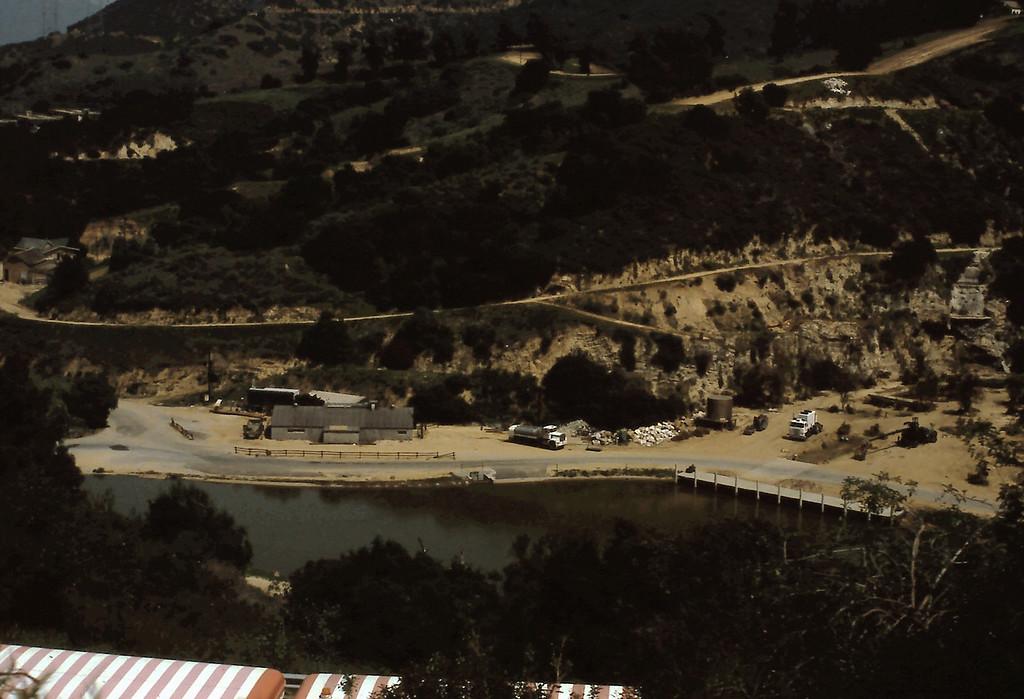 Looking down onto Universal Studios
