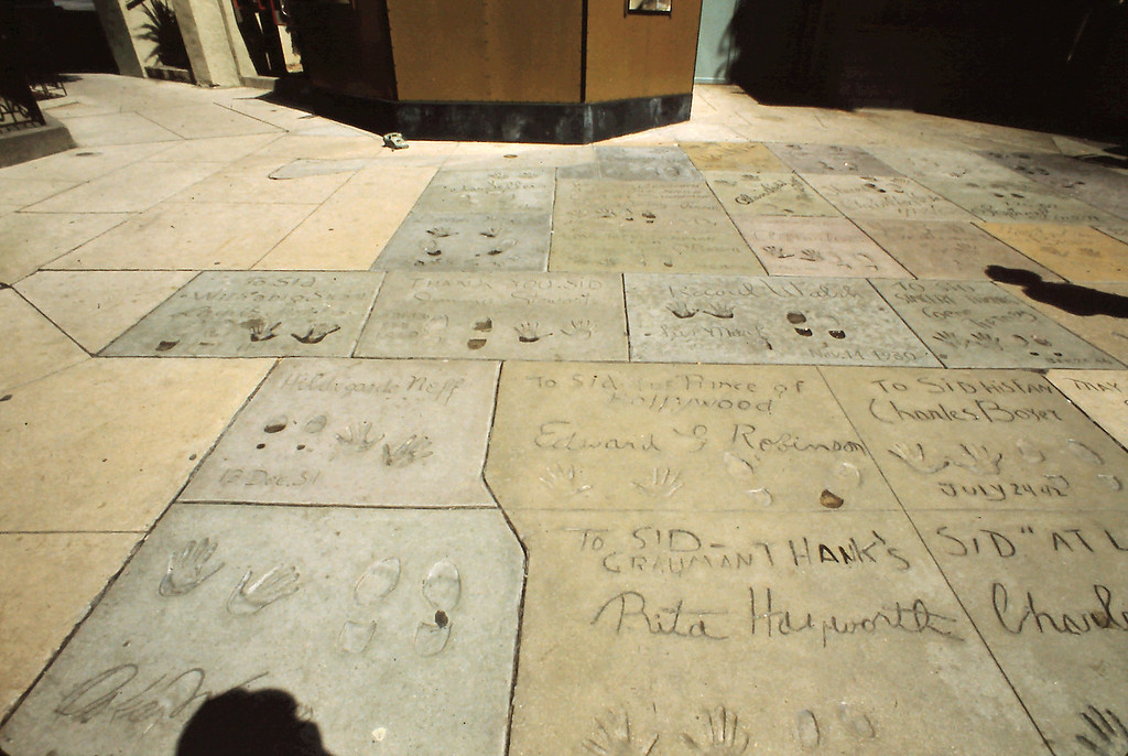 Here are some of the imprints of the rich and famous at Mann's Chinese Theatre.