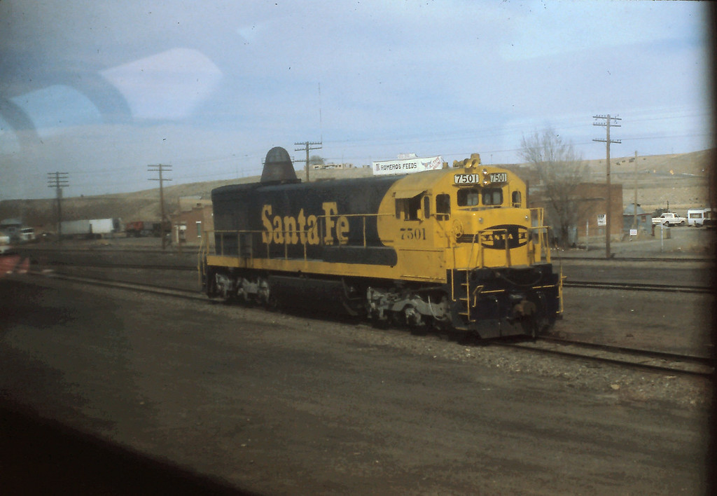 I photographed this Santa Fe Freight Engine through the window of our Sleeper.