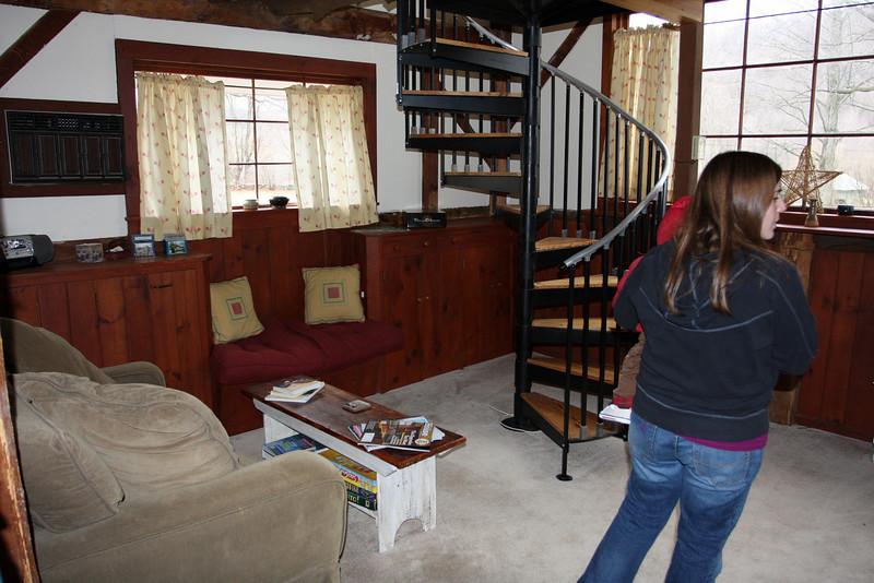 Inside the honeymoon cottage