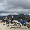 Paul, Don, Cameron and Russ's bikes on Look Out above Engineer Pass on 08/01/11