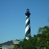 Our view of the Cape Hatteras Light as we're walking up to the entrance . . .