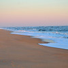 Waves catching sunrise light at Kitty Hawk, NC