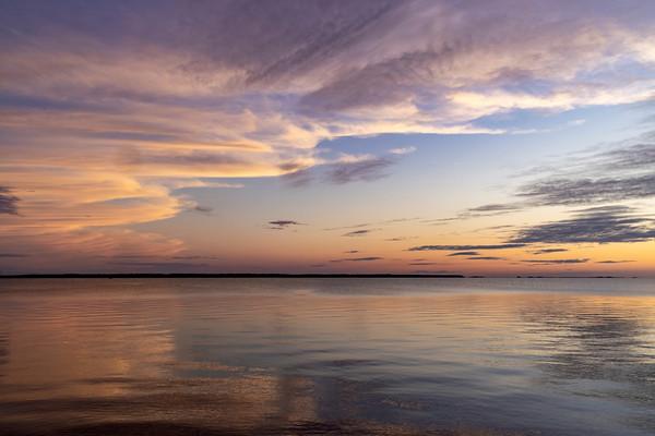 Roanoke Sound after Sunset