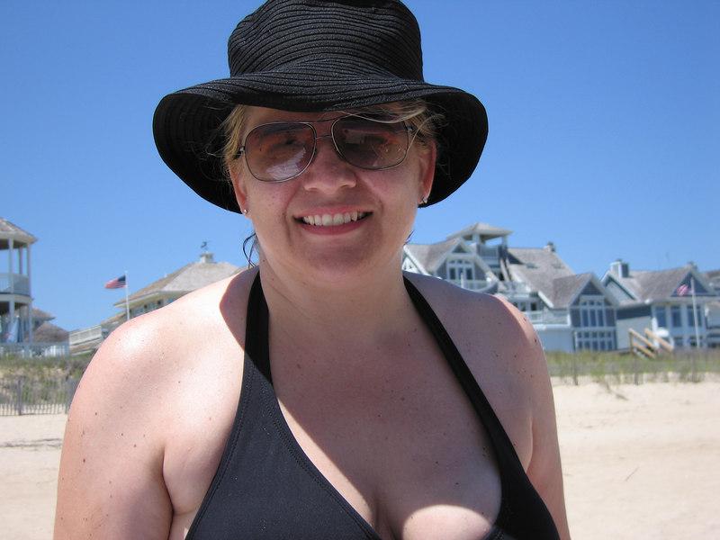 Kelly at the beach