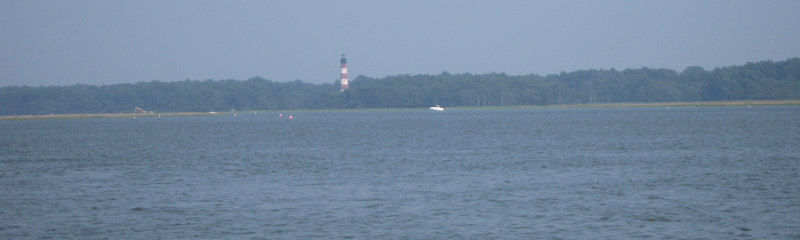 The Assateague lighthouse from Chincoteague