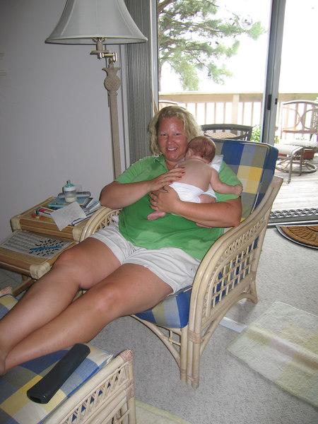 Auntie Jen holds Owen