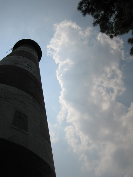 Kelly's attempt at an arty lighthouse shot - of course she wins