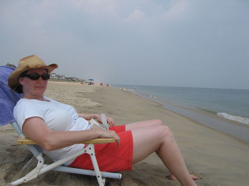Pam at the beach