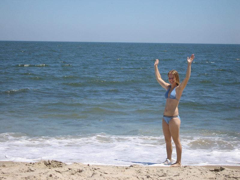 Anne at the beach