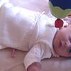Henriette, nesten 2 måneder gammel.
