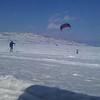 Både skiløpere og kitere var aktive på Valdresflya.