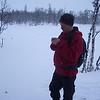 "Matrast i snøføyke på ""langtur""."