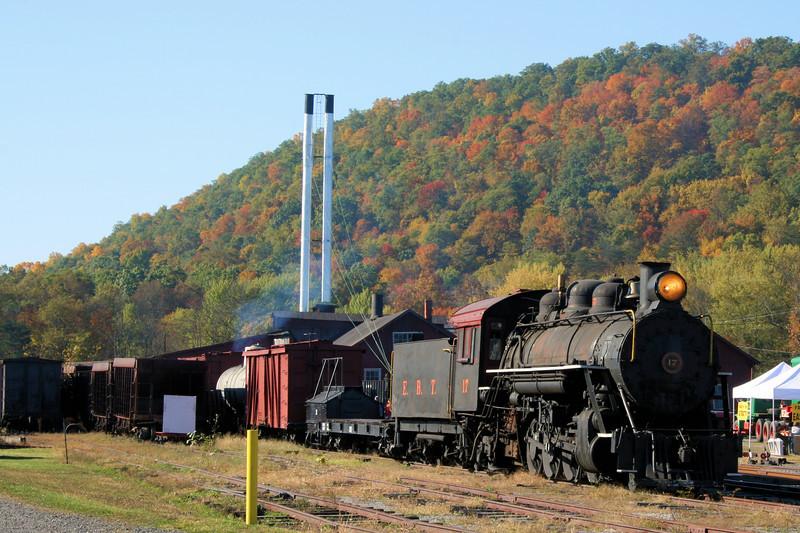 EBT #17 at Orbisonia Station (locomotive was stationary).