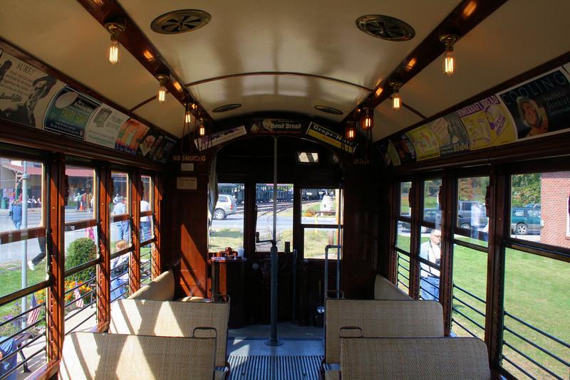 Trolley #355 - Inside of our favorite Trolley