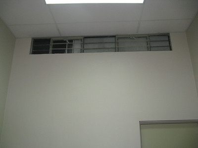 This was one of two windows in the room, neither was at eye level.  It would probably be hot in the summer.