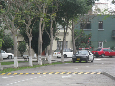 The view from the entrance of Pucllana in Miraflores.  Within Miraflores there is ample police presence.  I was assured that was not the case throughout all of Lima.