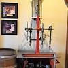 Italian antique wine bottle filling machine.