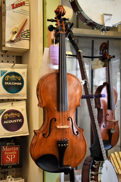 This locally made violin sells for $1,400.