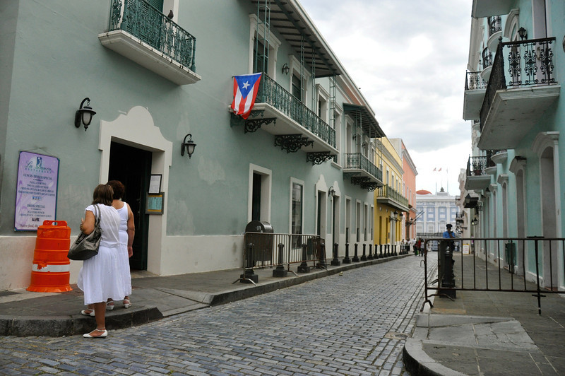 CALLE LA FORTALEZA,GOVERNOR'S MANSION AT THE END OF STREET