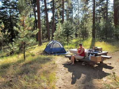 Our second day on the road, at our second camp site - Ochoco Divide, eastern Oregon.