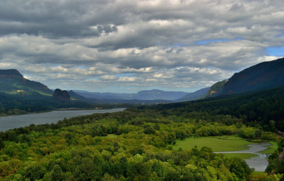 The valley of the Columbia River, just east of Portland.
