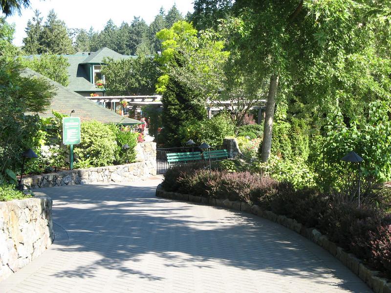 Entrance to Butchart Gardens.