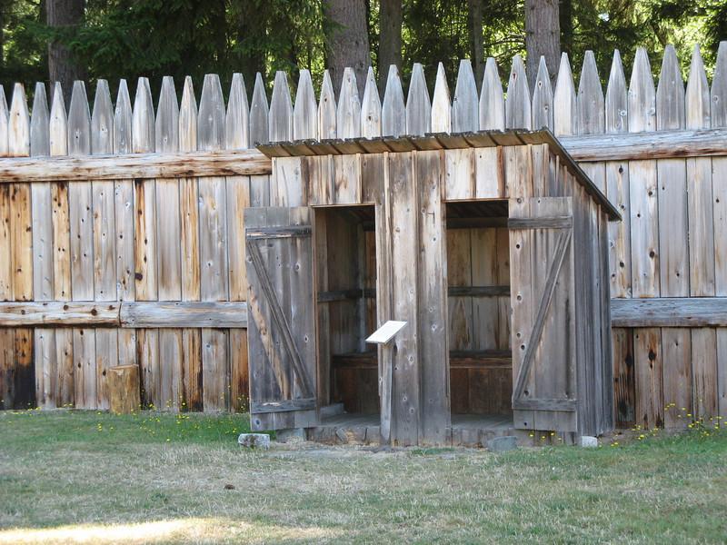Replica outhouse, mercifully non-functional.