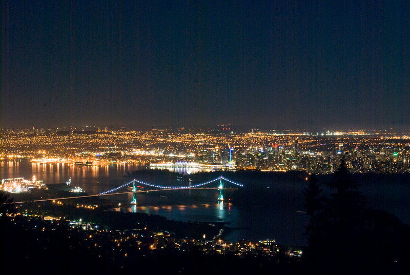 Vancouver Night skyline
