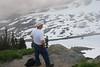 Looking at part of a glacier